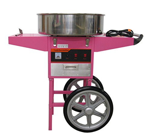 Electric Commercial Cotton Candy Machine / Candy Floss Maker Pink Cart Stand VIVO (CANDY-V002) (Cotton Candy Maker Commercial compare prices)