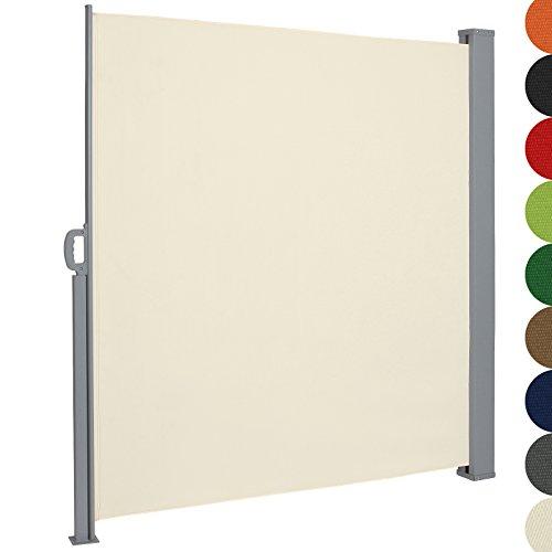Jago Tenda da sole paravento frangivento grandezza e set a scelta avvolgibile in poliestere 300 x 180 cm colore beige