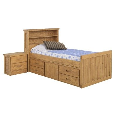 Cheap American Woodcrafters 2000-973 / 2000-949 Bookcase Bed Bedroom Set Kid's Scene Bookcase Bedroom Set in Deep Rustic (B004OD1FBM)