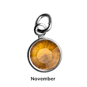 Sterling Silver November Birthstone Charm - Hangs on Loving Family Mother's Loving Embrace Pendant from Relios