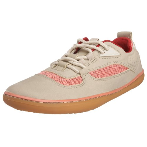 Vivo Barefoot Women's Aqua Lace-Up Leather Nubuck Beige VB40017NBEI 3 UK