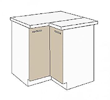 Kuchen Eckunterschrank 89x89 cm fur das Modell ,,Dave 240 Eiche Sonoma Truffel'