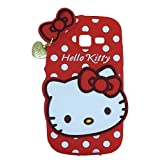 MACC Designer Soft Back Cartoon Cover Case Silicon 3D For Samsung Galaxy Star Pro S7262 - HKWITHPENDANT RED