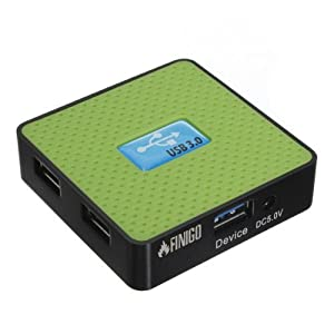 FINIGO Portable 4 Ports USB 3.0 Hub Extension Adapter + Super Speed 5gbps USB 3.0 Cable from FINIGO