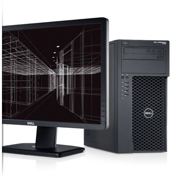 Dell Precisions Workstations T1650 Computer Workstation- Intel Gist i5-3550 (6M, 3.3GHz) w/HD2500 Graphics