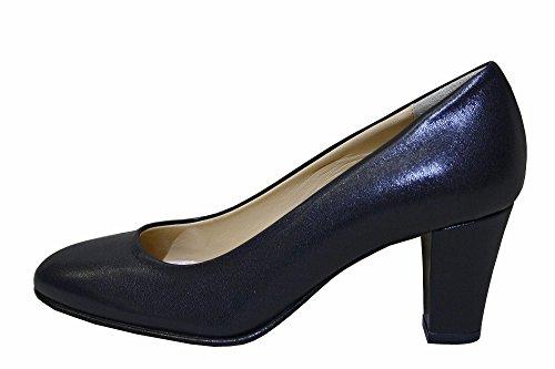Lady Raffy, Décolleté in vera pelle nappa blu scuro (38.5, blu scuro)