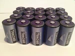 (20) 3.6 Volt 1/2 Aa Tekcell Lithium Wireless Adt Alarm Batteries