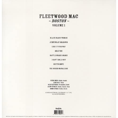Boston-Volume-1-Vinyl-VINYL-Fleetwood-Mac-Vinyl