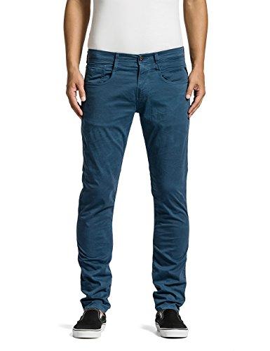 Replay Herren Slim Jeans Anbass, Gr. W33/L32 (Herstellergröße: 33), Blau (AVION BLUE 175) thumbnail