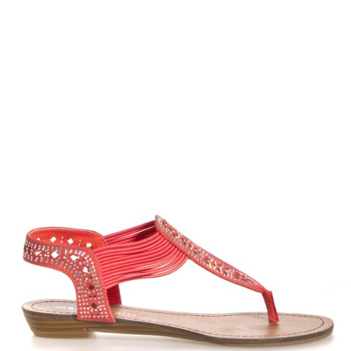 Madden Girl Womens Taahnee Thong Sandals 6.5 M Coral