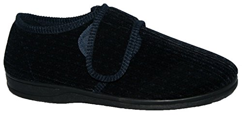 diabetic-orthopaedic-mens-easy-close-wide-fitting-touch-close-bar-strap-shoe-slipper-9-navy