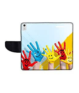 KolorEdge Printed Flip Cover For Gionee Elife S5.5 Multicolor -(50KeMLogo12094GioneeS5.5)