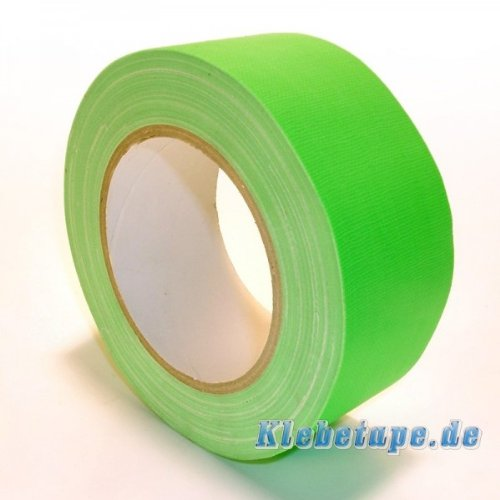 Neon-Klebeband-matt-grn-fluoreszierend-50mm-x-25m-Gaffa-Tape-UV-Duct-Tape
