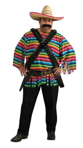 Mens Big & Tall Hombre Mexican Halloween Costume