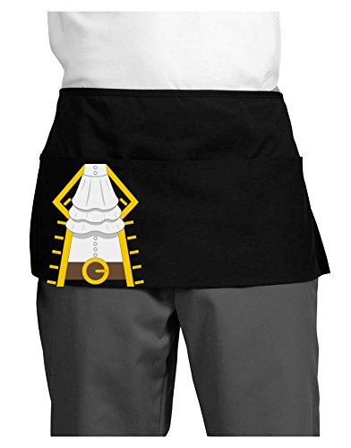 Pirate Captain Costume Gold Dark Adult Mini Waist Apron