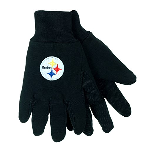 NFL Football Multi Color Team Logo Sport Gloves - Pick Team (Pittsburgh Steelers-BLK) (Jersey Boy Tickets compare prices)