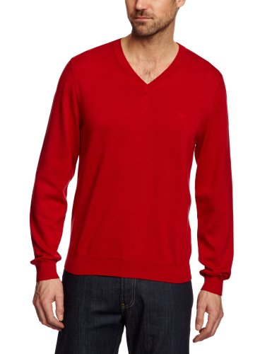 Brooks Brothers Long Sleeve Supima Vee Men's Jumper Red X-Large