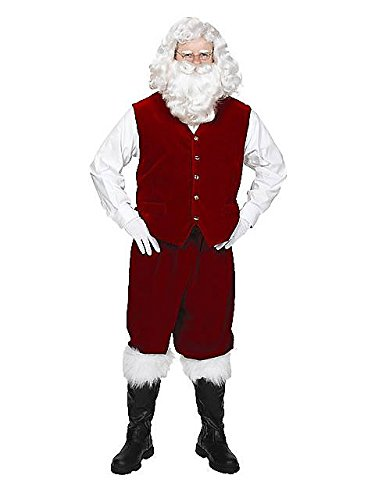 Santa Claus Velvet Vest with Buttons Adult Costume Accessory Size X-Large (XL)