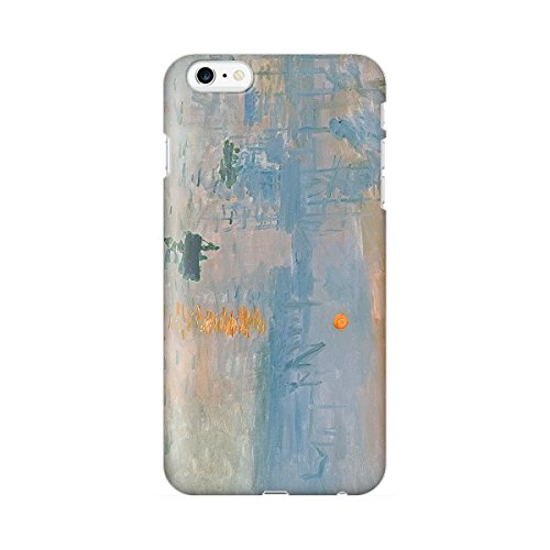 スマホケース スマートフォンケース iPhone6 6s 【側面印刷ハードケース】【アイフォン6 6s】【モネ 印象・日の出】【名画mg30】つや消し