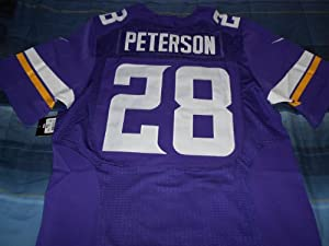Minnesota Vikings Adrian Peterson New 2013 Purple Jersey On-field Size 48 (X-large) by ON-FIELD