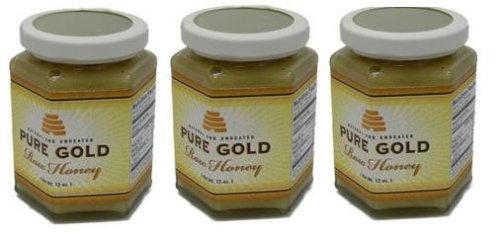 Pure Gold Raw Honey (3pack)
