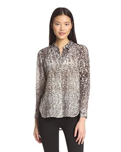 Chelsea and Walker Women's Azel Printed Silk Shirt
