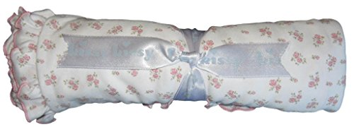 Kissy Kissy Baby-Girls Infant Sweetest Treasures Blanket-White With Pink-One Size - 1