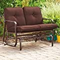 Outdoor 2 Two Seater Swing Glider Patio Deck Bench Chocolate Brown