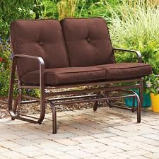 New Outdoor 2 Two Seater Swing Glider Patio Deck Bench Chocolate Brown