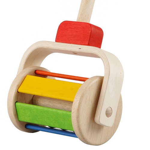 Walk N Roll | Wooden Push-Along Toy by Plan Toys - 1