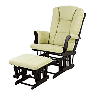 Dream On Me Charleston Glider and Ottoman, Espresso