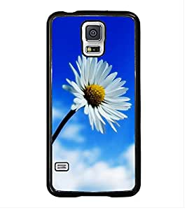 White Flower 2D Hard Polycarbonate Designer Back Case Cover for Samsung Galaxy S5 :: Samsung Galaxy S5 G900I :: Samsung Galaxy S5 G900A G900F G900i G900M G900T G900W8 G900k