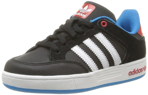 Adidas Originals Unisex-Child Varial J-6 Trainers G98146 Black/Light Scarlet/Solar Blue 6 UK, 39 EU