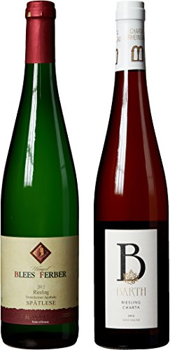 """German Riesling Themed Wine Pairing - """"Hand Selected By America'S 1St Master Sommelier"""" - A Comparative Way To Explore Food & Wine! Mixed Pack, 2 X 750 Ml"""