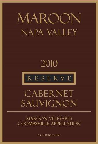 2010 Maroon Reserve Cabernet Sauvignon 750 Ml