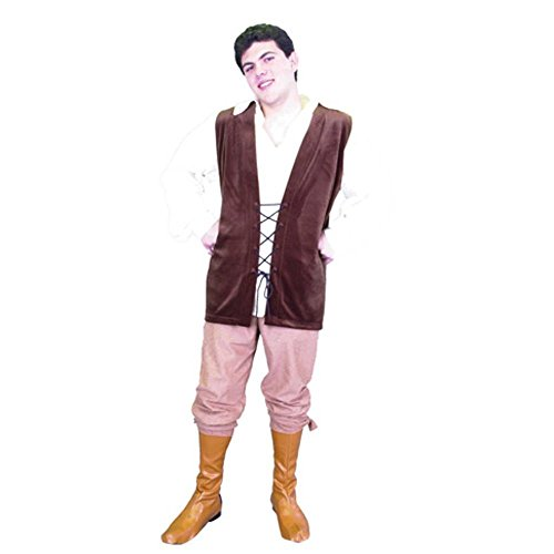 Men's Renaissance Costume (With Boot Covers)(Size: Medium 40-42)