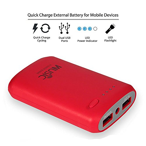 Best Portable Battery Charger For Cell Phone 7800 Mah External Power Bank Dual Usb (2.1A / 1.5A Output) With Bright Led Light For Iphone 6 5S 5C 5 4S, Ipad Mini Air, Samsung Galaxy S3 S4 S5, Note, Nexus, Htc One, Lg, Android, All Smartphones, Tablets, Spe