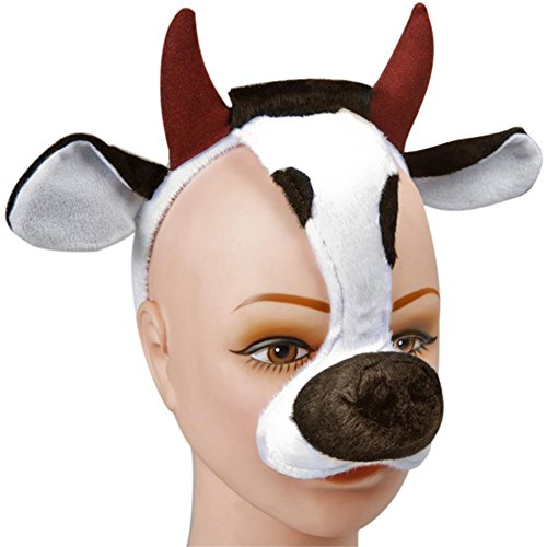 Child's and Adult's Cow Face Costume Heapiece