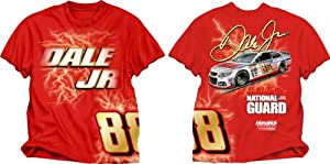 Checkered Flag Dale Earnhardt Jr. #88 Electric T-Shirt - Red by Checkered Flag