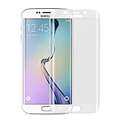 Munoth Ultra Thin CURVED Premium Tempered Glass for Samsung S6 EDGE (FULL) WHITE