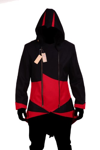 Costume Jacket Coat Black with Red