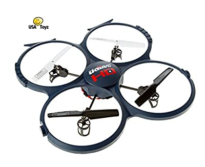 *UPDATED HD VERSION* UDI U818A-1 Discovery 2.4GHz 4 CH 6 Axis Gyro RC Quadcopter with HD Camera RTF Includes BONUS BATTERY (*Doubles Flying Time*) - USA TOYZ EXCLUSIVE!!