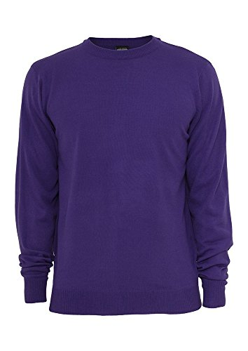Urban Classics TB402 Knitted Crewneck Felpa Girocollo Uomo Regular Fit (Purple, XXL)