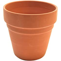 Plaid Decorative Flower Pot (3-Inch), 19164 Terracotta