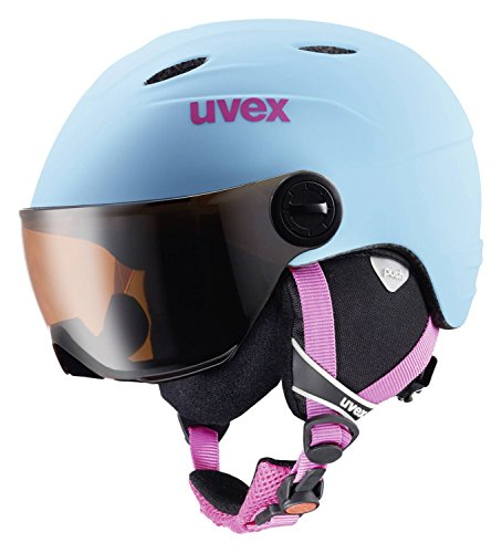UVEX-Kinder-Junior-Visor-Pro-Skihelm-Liteblue-Mat-54-56-cm