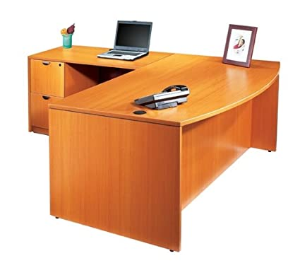 "Offices to Go 72"" Bow Front Office Managers L-Shape Desk"