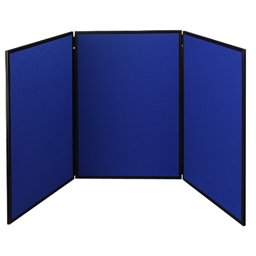 Quartet Show-It! 3-Panel Display System, 6 x 3 Feet, Double-sided, Blue/Gray (SB93513Q) (Graphic Display Systems compare prices)
