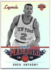 Greg Anthony 2012-13 Panini Marquee New York Knick…