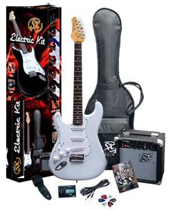 SX RST White Left Handed Guitar Package w/GA1065
