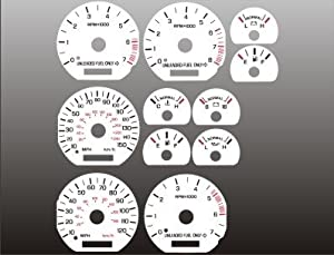 1994-1998 Ford Mustang White Face Gauges